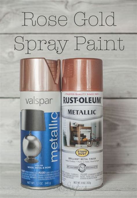 gold spray paint copper ash and sprays