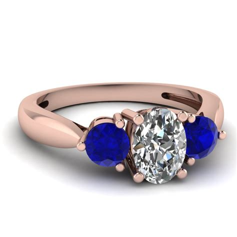 7 Engagement Rings From Since1910 by 3 Tapered Engagement Ring With Sapphire In 14k