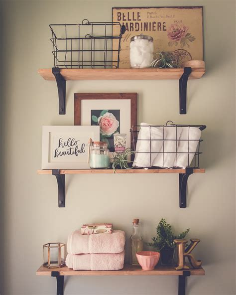 Decoration Ideas For Small Bathrooms a modern farmhouse bathroom update minding my nest