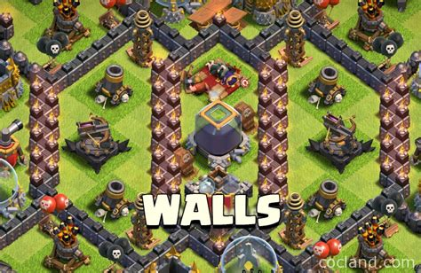 all clash of clans wall upgrades clash of clans guide where do you place stronger walls