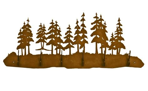 Metal Wall Coat Rack by Pine Tree Forest Six Hook Metal Wall Coat Rack