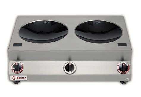 induction stove for wok berner bw2k10 countertop wok induction hob system 45 chefsrange
