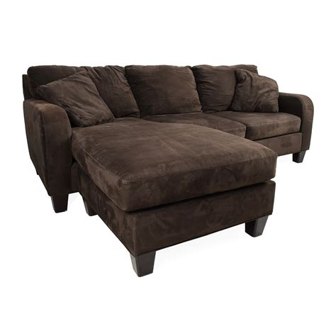 microfiber couch with chaise bailey microfiber chaise sofa smileydot us