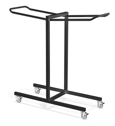 Chair Rack by Black Color Iron Folding Chair Storage Rack With Wheels