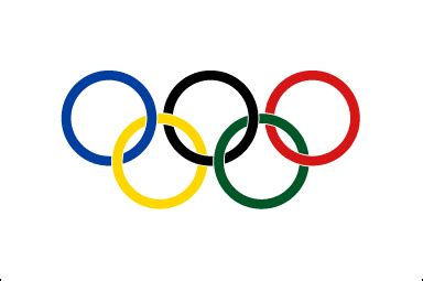 olympic flag, flag of the olympic games