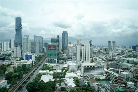 skyline  city view  bangkok thailand image