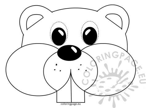 Printable Groundhog Mask | groundhog mask childrens coloring page