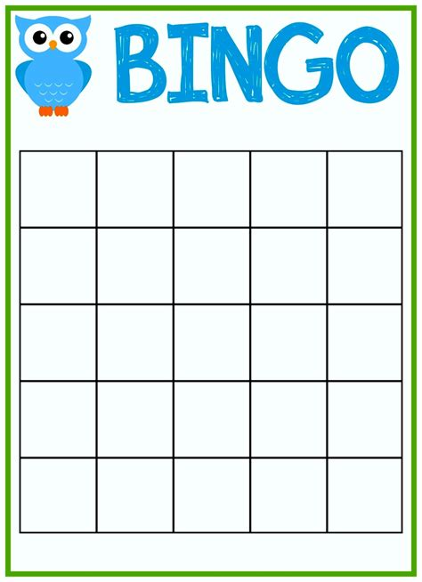bingo card templates free free printable baby shower bingo cards template
