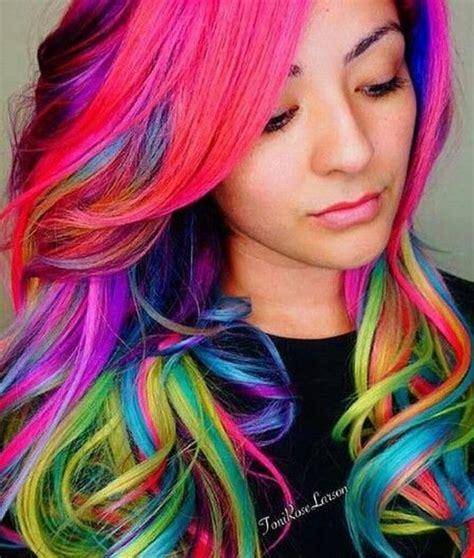 rainbow hair color shine line hair is the new craze