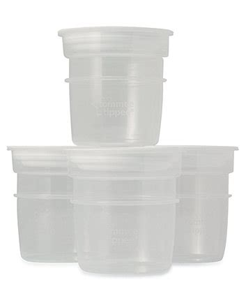 Tommee Tippee Breastmilk Breast Milk Storage Pot Pots 4 X 60ml 79 Tommee Tippee Closer To Nature Milk Storage Pots 4 Pack
