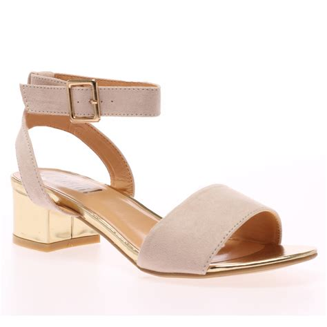 new strappy womens block mid heel summer open toe