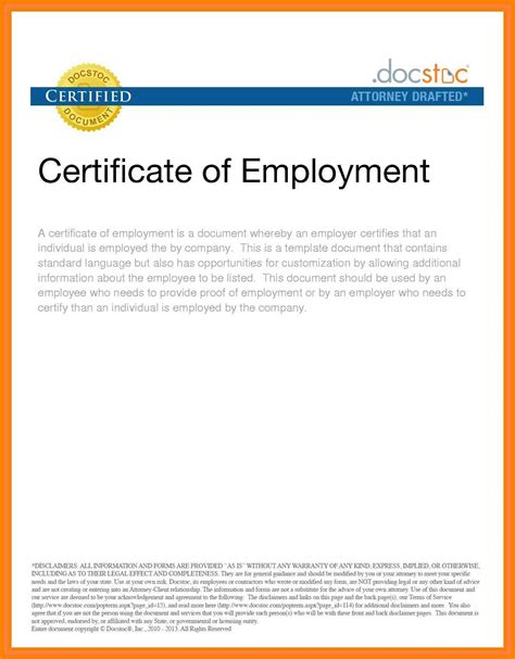 templates for certificate of employment certificate of employment template hospi noiseworks co