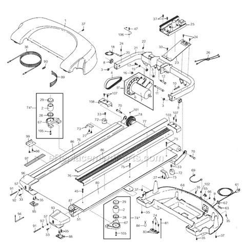 treadmill diagram proform 294150 parts list and diagram ereplacementparts