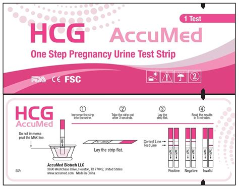 accumed 25 count pregnancy hcg test strips clear and