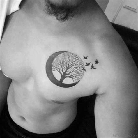 man in the moon tattoo designs 63 adorable moon tattoos for chest