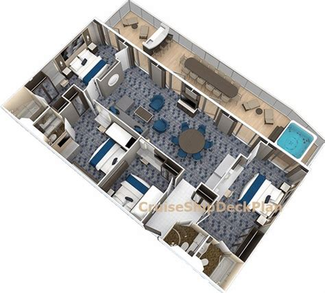 royal caribbean floor plan harmony of the seas presidential suite floor plan 4