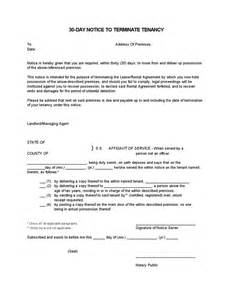 Lease Termination Letter Illinois Eviction Notice Illinois 30 Day Images