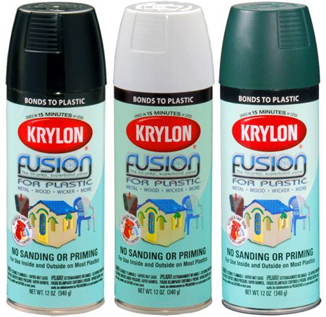 krylon fusion colors krylon fusion spray paint for plastic 12 oz kry2xxx