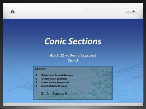 conic sections ppt ppt conic sections powerpoint presentation id 1998622