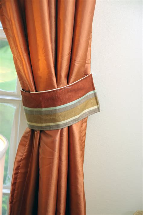 How To Make Curtain Tie Backs Homemade Ginger