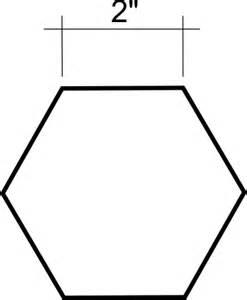 2 hexagon x 25 english paper piece template
