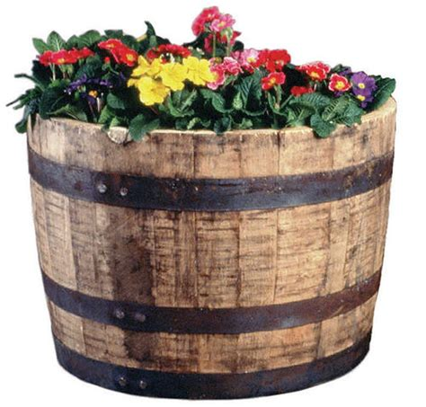 Oak Half Barrel Planters by Half Oak Barrel Planter At Menards 174