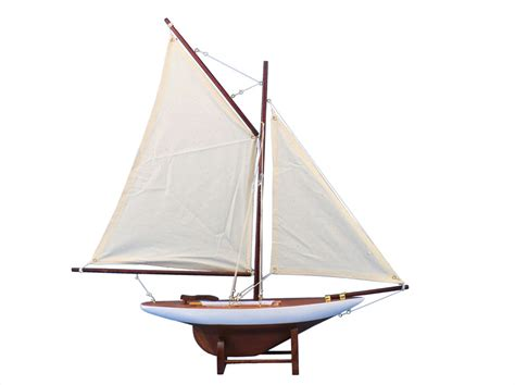 sailing boat decoration buy wooden america s cup contender model sailboat