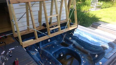 bifold deck spa cover  winch zwembaden tuin huis