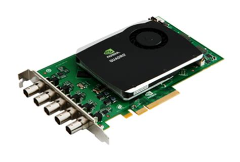 nvidia® quadro® sdi capture card enables uncompressed
