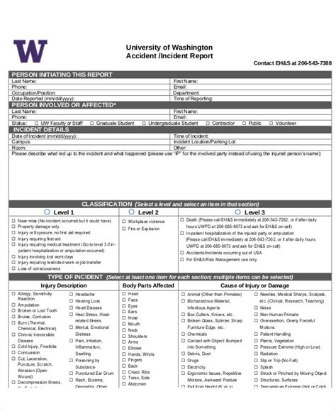 sle incident report 6 exles in pdf word