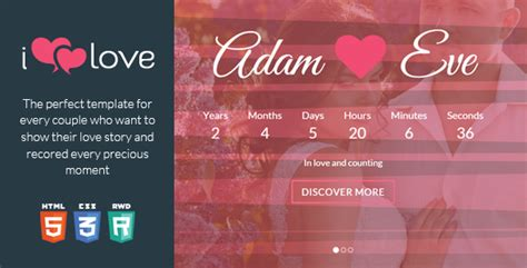 love story themes download ilove love story html wedding template by webyzona
