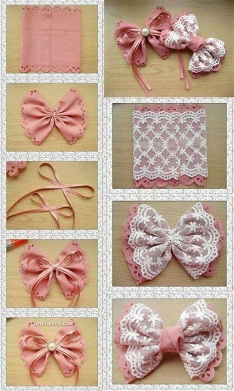 How To Make Handmade Hair Bows - 10 diy hair bow tutorials for pretty designs