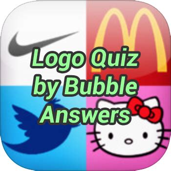 logo quiz by bubble answers game solver