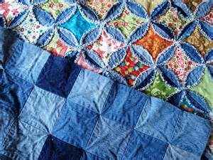 self quilting denim circles rag quilt s includes a
