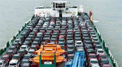 boat car shipping how do major car manufacturers ship cars overseas quora