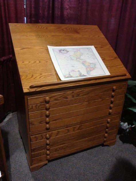 amish drafting flat file cabinet  flat file cabinet