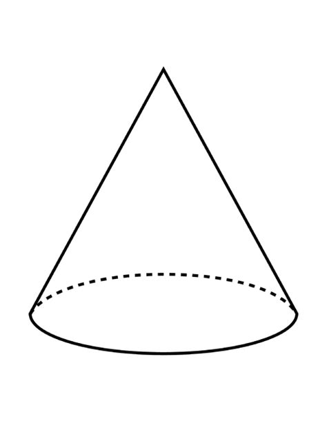 Parallelgraphics Outline 3d by Flashcard Of A Cone Clipart Etc