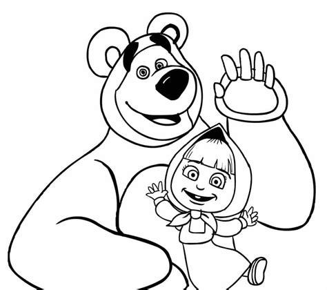 imagenes para colorear en pdf masha y el oso colorear dibujos de masha y el oso