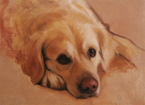 golden retriever painting golden retriever painting by hazel