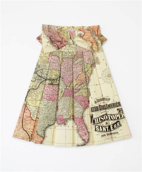 Elisabeth Lecourts Map Clothing by It S That Maps Transformed Into Pretty Dresses By