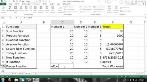 tutorial excel formulas 2010 excel tutorial formulas and functions for beginners 4