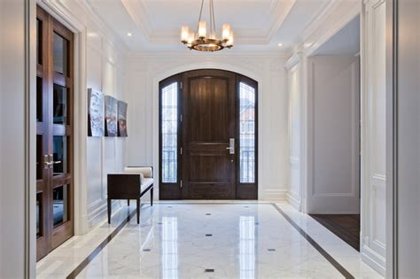 Front Foyer Tile Designs Front Foyer Transitional Entry Toronto By