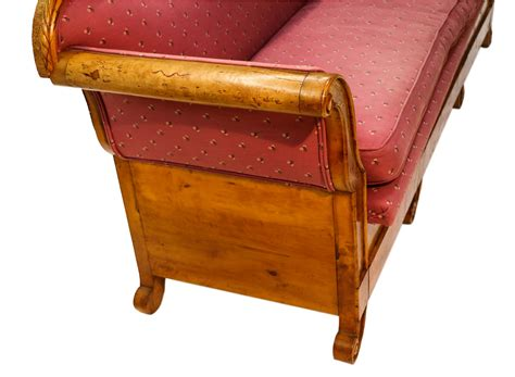 biedermeier sofa antique 19th century maple biedermeier sofa