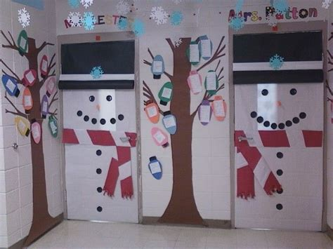 winter classroom door decorating ideas pin by earp on owl theme