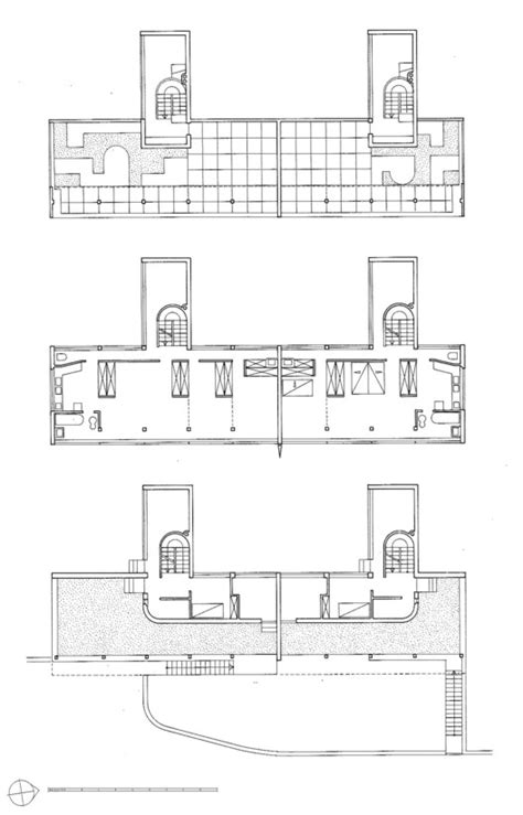 ad house plans ad classics weissenhof siedlung houses 14 and 15 le