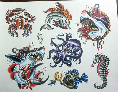 tattoo flash sheets nautical ii traditional flash sheet