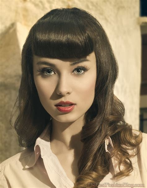 retro hairstyles bangs top 12 retro hairstyles with bangs back with a bang