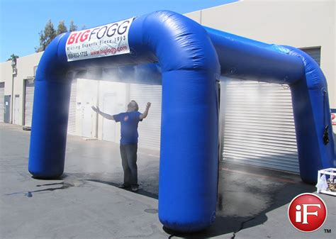 inflatable tent with high pressure misting system custom