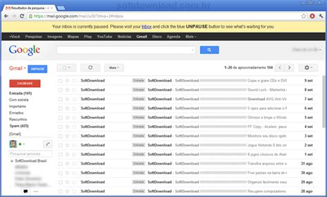 entrada login pause sua caixa de entrada do gmail o inbox pause