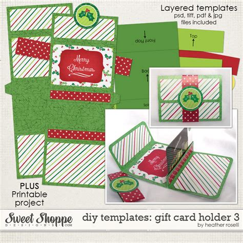 free template for gift card holder sweet shoppe designs your memories sweeter